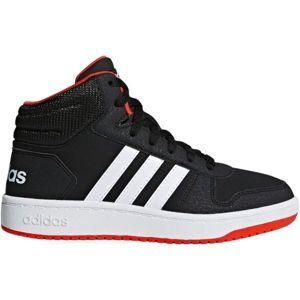 adidas HOOPS MID 2.0 K fekete 34 - Gyerek szabadidőcipő