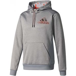 adidas COMMERCIAL GENERALS PULLOVER HOOD PES szürke S - Férfi pulóver