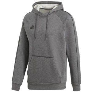 adidas CORE18 HOODY szürke XL - Férfi pulóver