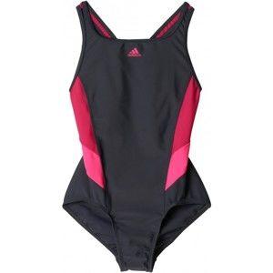 adidas I INS 1PC G fekete 128 - Lány fürdőruha