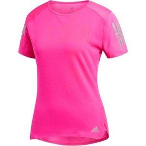 adidas RS SS TEE W rózsaszín S - Női póló futáshoz