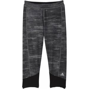 adidas TF CAPRI PRINTED HEATHER sötétszürke S - Női legging