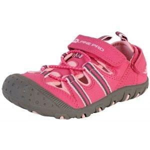 ALPINE PRO FOLEY rózsaszín 31 - Gyerek nyári cipő