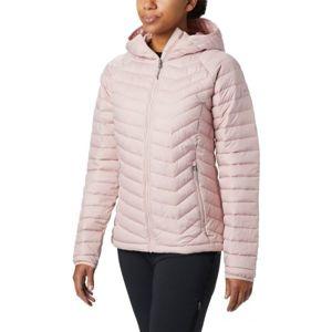 Columbia POWDER LITE HOODED JACKET rózsaszín M - Női kabát