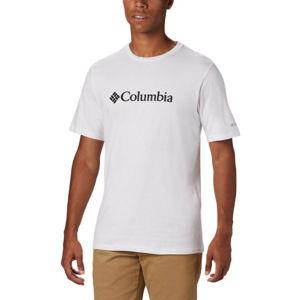 Columbia BASIC LOGO SHORT SLEEVE fehér L - Férfi póló