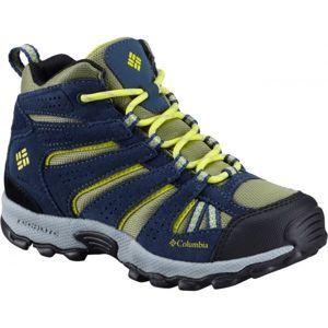 Columbia YOUTH NORTH PLAINS MID WP sárga 3 - Gyerek outdoor cipő