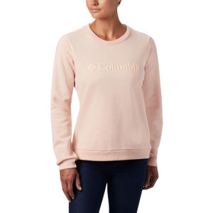 Columbia LOGO CREW világos rózsaszín XL - Női pulóver