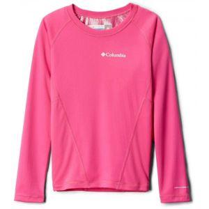 Columbia MIDWEIGHT CREW 2 világos rózsaszín XXS - Gyerek funkcionális póló
