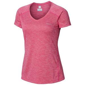 Columbia ZERO RULES SHORT SLEEVE SHIRT rózsaszín XS - Női póló