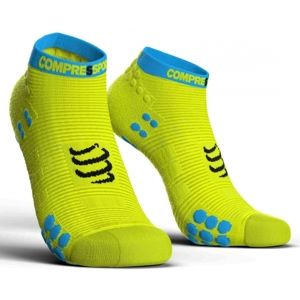 Compressport RACE V3.0 RUN LO sárga T3 - Futózokni