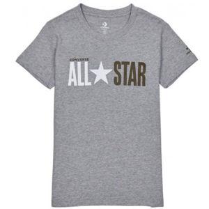 Converse ALL STAR SHORT SLEEVE CREW T-SHIRT szürke M - Női póló