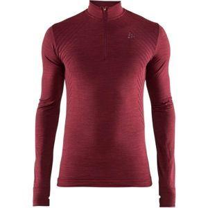 Craft FUSEKNIT COMFORT ZIP piros S - Férfi funkcionális póló