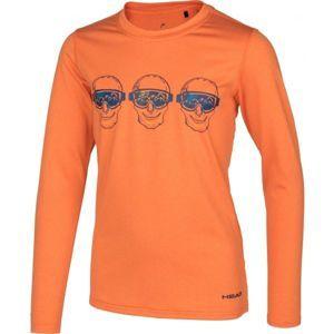 Head FRANKIE narancssárga 128-134 - Hosszú ujjú gyerek póló