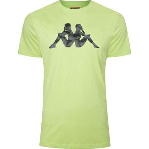 Kappa LOGO GIERMO világos zöld M - Férfi póló