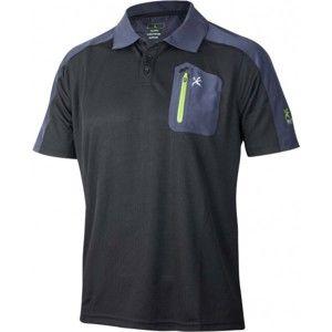 Klimatex CABER fekete S - Férfi galléros póló