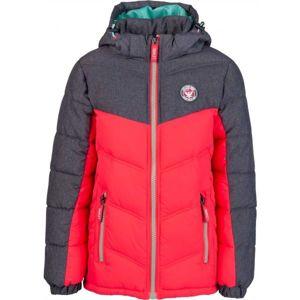 Lewro ERNIE piros 128-134 - Gyerek steppelt kabát