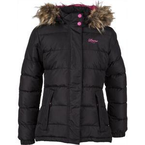 Lewro JEANA 116-134 fekete 128-134 - Lányos steppelt kabát