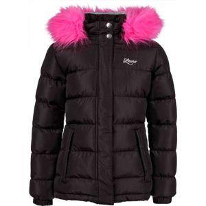 Lewro NAILA fekete 116-122 - Lány steppelt kabát