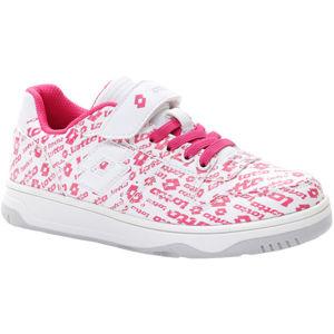 Lotto BASKETLOW AMF II LOGO CL SL fehér 29 - Lányos szabadidő cipő