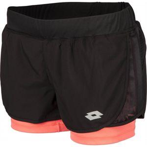 Lotto X RIDE II SHORT W 2IN1 BP fekete XL - Női rövidnadrág sportoláshoz