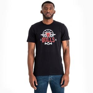 New Era NBA LEAGUE NET LOGO TEE CHICAGO BULLS fekete XXL - Férfi póló