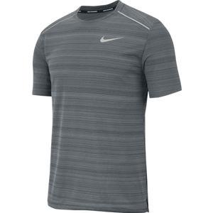 Nike DRY MILER TOP SS M szürke M - Férfi futópóló