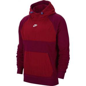 Nike NSW CE HOODIE PO WINTER M bordó L - Férfi pulóver