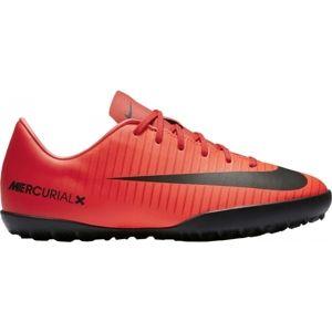 Nike MERCURIALX VAPOR XI TF JR piros 5Y - Gyepre készült futballcipő gyerekeknek