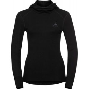 Odlo BL TOP WITH FACEMASK L/S ACTIVE WARM fekete L - Kapucnis női póló