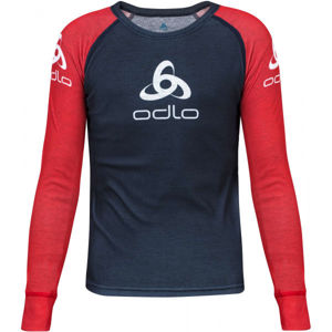 Odlo SUW KID'S TOP CREW NECK L/S ORIGINALS LIGHT piros 128 - Gyerek póló