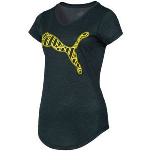Puma Heather Cat Tee fekete S - Női top