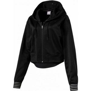 Puma FUSION FZ HOODED JACKET fekete S - Női pulóver