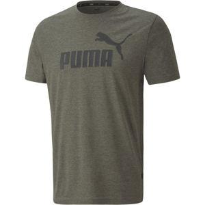 Puma ESS+ HEATHER TEE  M - Férfi póló
