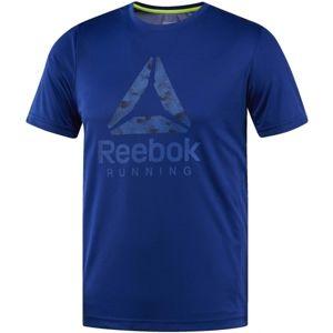 Reebok RUN GRAPHIC TEE kék L - Férfi futó felső