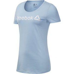 Reebok LINEAR READ SCOOP NECK kék XS - Női póló