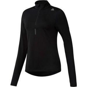 Reebok RUN 1/4 ZIP fekete M - Női pulóver