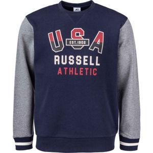 Russell Athletic PRINTED CREWNECK SWEATSHIRT  S - Férfi pulóver
