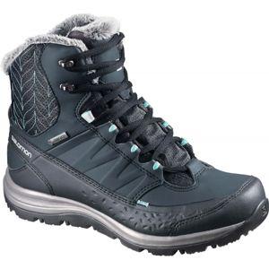 Salomon KAINA MID GTX sötétkék 6.5 - Női téli cipő