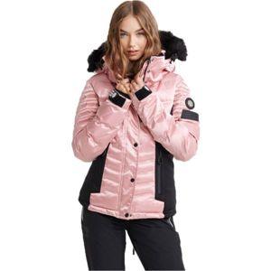 Superdry LUXE SNOW PUFFER rózsaszín 8 - Női síkabát