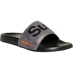 Superdry PRINTED BEACH SLIDE fekete 44/45 - Férfi papucs