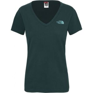 The North Face S/S SIMPLE DOM TEE sötétzöld S - Női póló