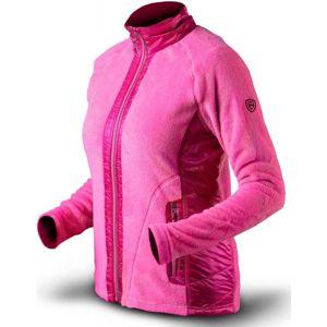 TRIMM FLOWERS rózsaszín XXL - Női pulóver